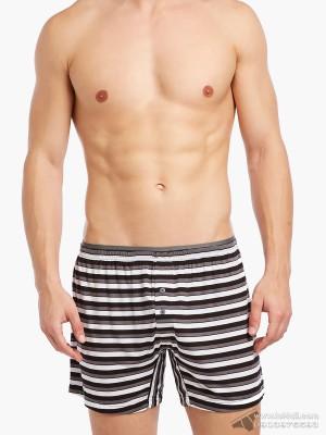 Quần boxer 2(x)ist Modal Knit Boxer Bold Stripe-Black