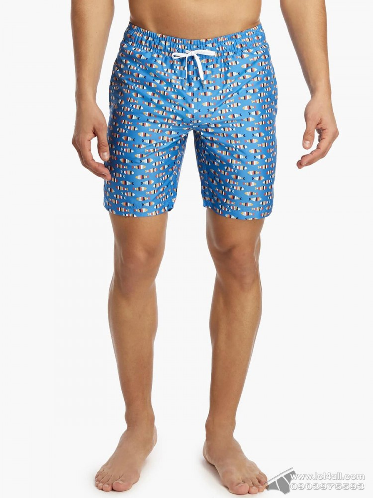 Quần đi biển 2(x)ist Catalina Swim Short Multi Stripe Fish-Blue Aster