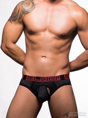 Quần lót nam Andrew Christian 90206 BLOW Sexy Mesh Brief Black