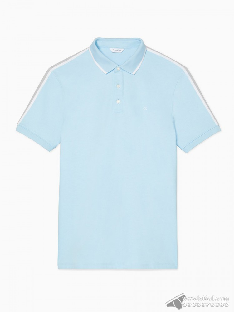 Áo thun nam Calvin Klein 6731 New Essentials Regular Fit Liquid Touch Solid Polo Shirt Bright Ice