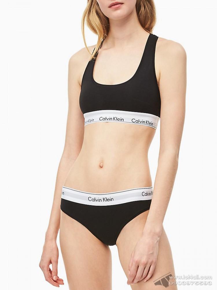 Quần lót nữ Calvin Klein F3787 Modern Cotton Modal Bikini Black