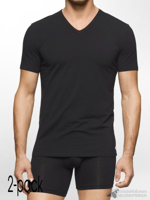 Áo lót nam Calvin Klein NB1089 Modern Cotton Stretch V-Neck T-Shirt 2-pack Black