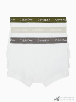 Quần lót nam Calvin Klein NB1119-142 Cotton Classic Fit Trunk 3-pack White