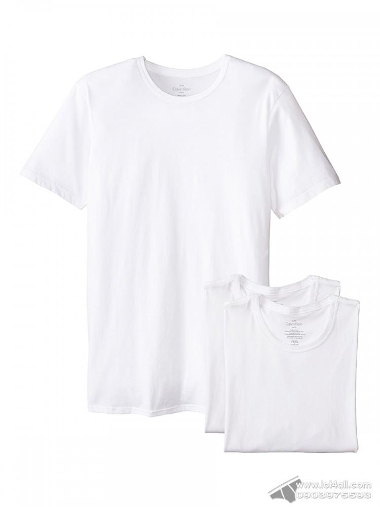 Áo lót nam Calvin Klein NB1176 Slim Fit Crew Neck T-shirt 3-pack White