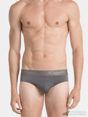 Quần lót nam Calvin Klein NB1485 Focused Fit Micro Hip Brief Grey Sky