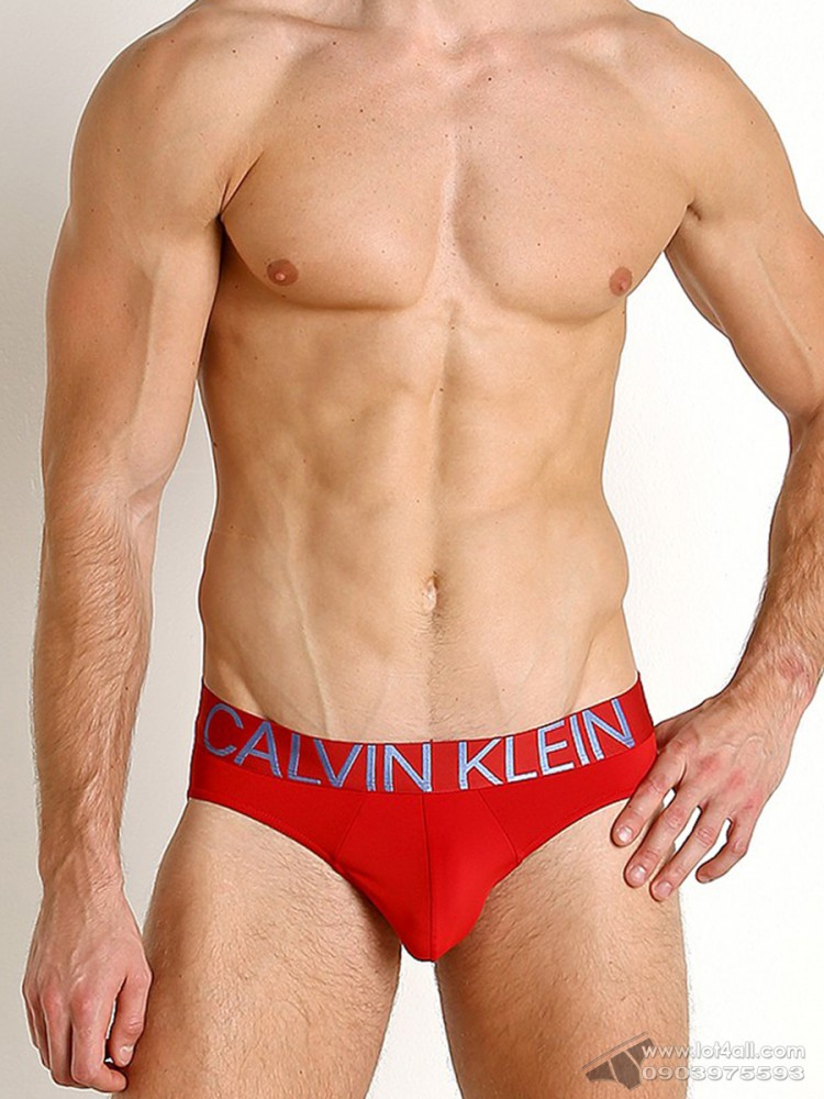 Quần lót nam Calvin Klein NB1701 Statement 1981 Micro Hip Brief Haute Red