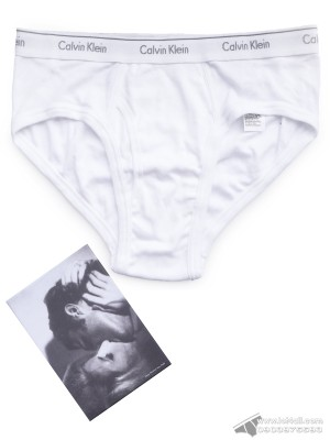 Quần lót nam Calvin Klein NB1789 Andy Warhol Kiss1 1963 Brief White