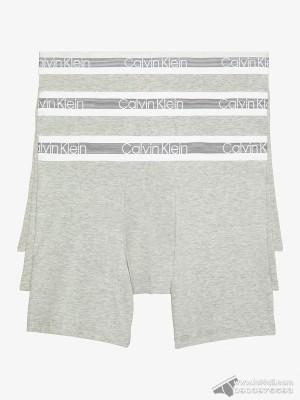 Quần lót nam Calvin Klein NB1798 Cooling Cotton Boxer Brief 3-pack Grey Heather