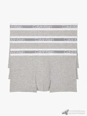 Quần lót nam Calvin Klein NB1799 Cooling Cotton Trunk 3-pack Grey Heather
