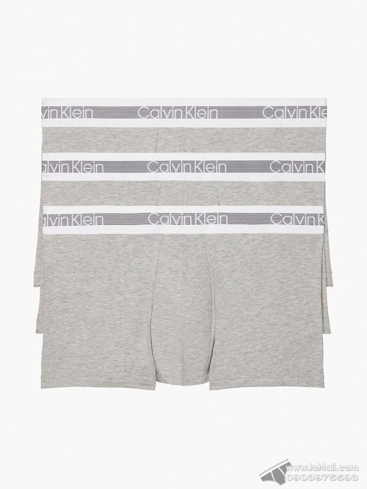 Quần lót nam Calvin Klein NB1799 Cooling Cotton Trunk 3-pack Grey Heather