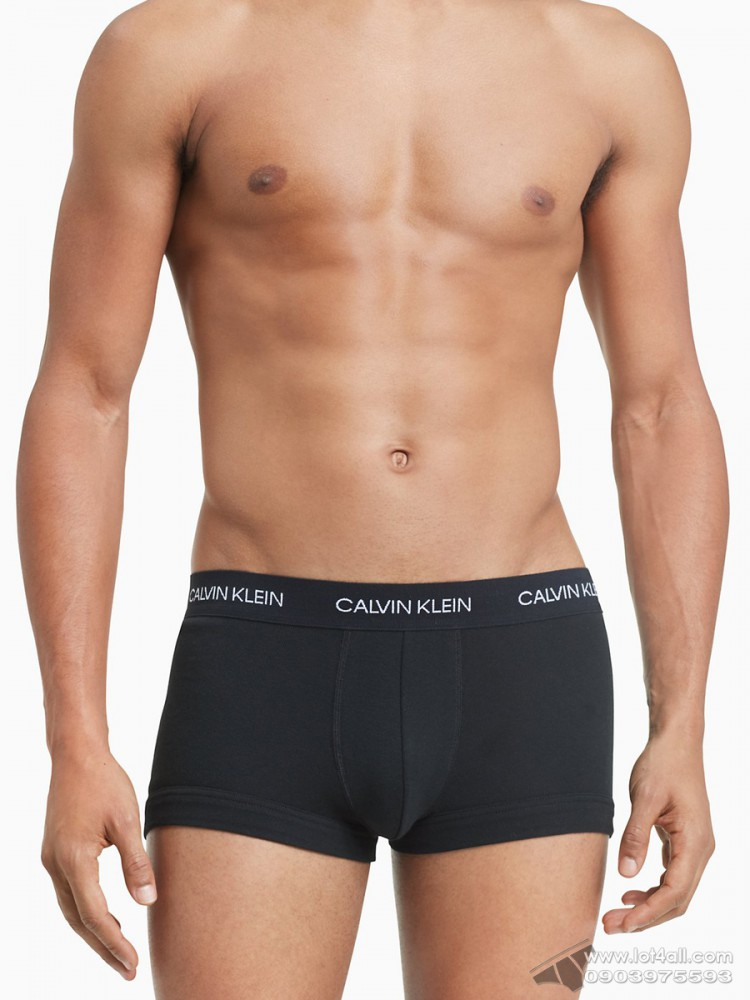 Quần lót nam Calvin Klein NB1811 Statement 1981 Limited Edition Patch Low Rise Trunk Black