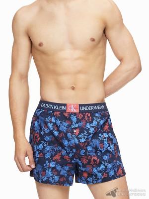 Quần boxer nam Calvin Klein NB1845 Slim Fit Monogram Logo Woven Boxer Wave