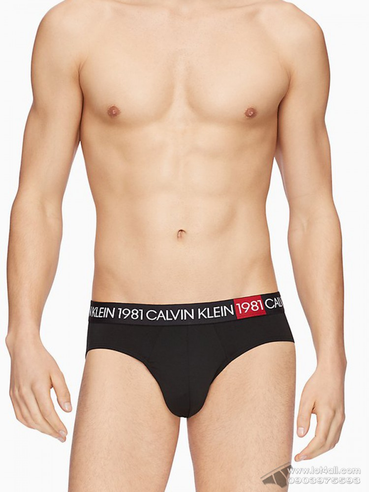Quần lót nam Calvin Klein NB2049 Bold 1981 Hip Brief Black