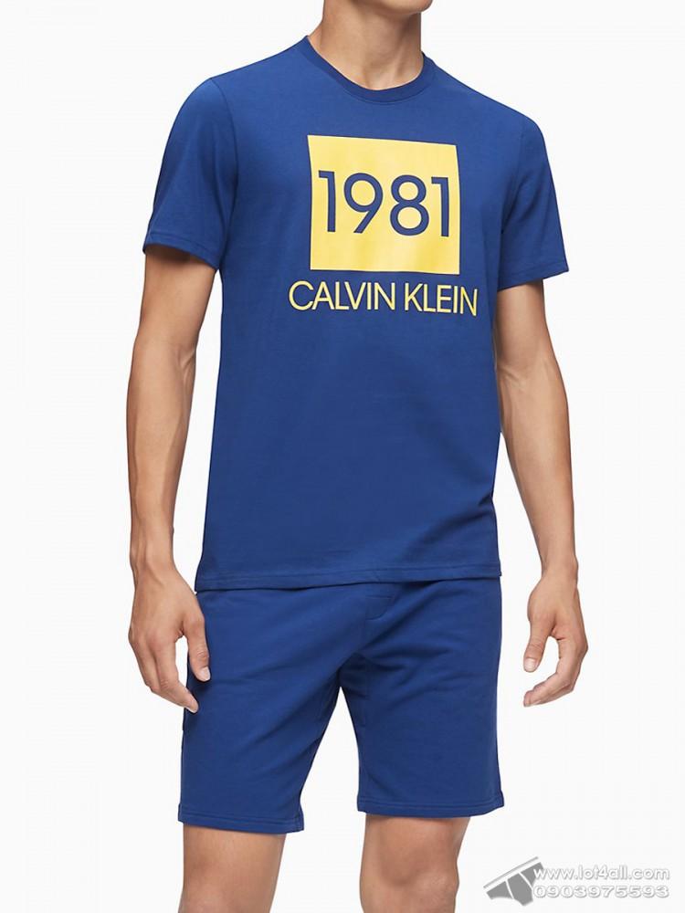 Quần short nam Calvin Klein NM1709 Bold 1981 Lounge Short Blue Depth