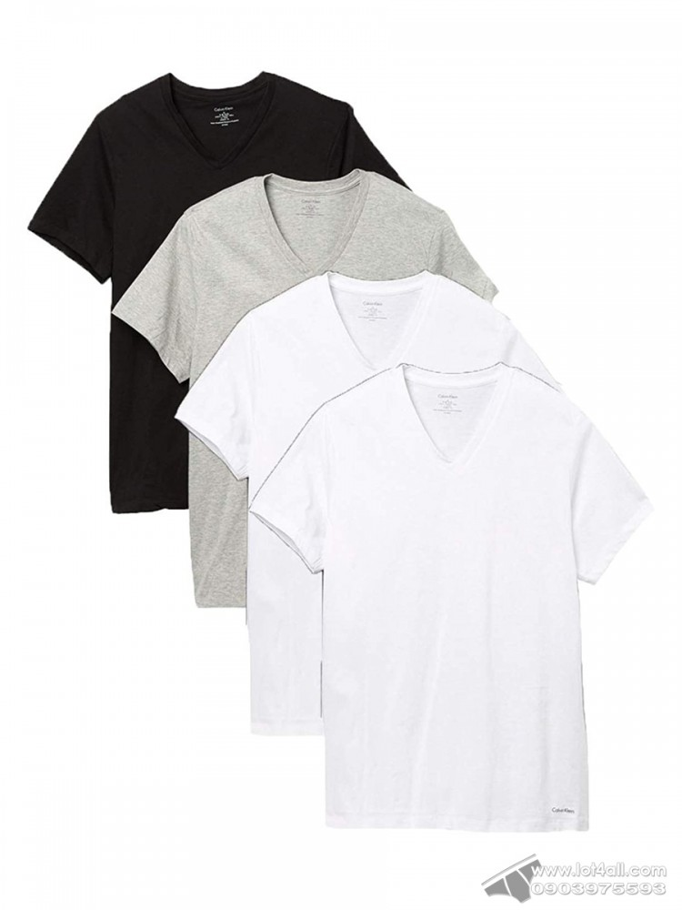 Áo lót nam Calvin Klein NP1900O Classic Fit V-Neck Tee 4-pack Black/Grey/White