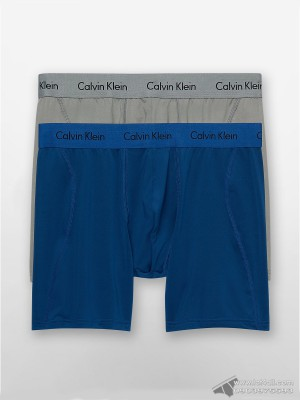 Quần lót nam Calvin Klein NP1908O Micro Stretch Boxer Brief 2-pack Blue/Grey