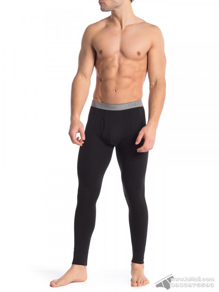 Quần lót nam Calvin Klein NP2090O Textured Long Johns Black