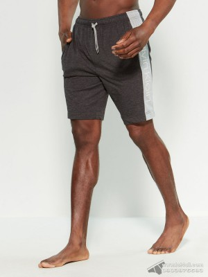 Quần short nam Calvin Klein NP2178O Drawstring Lounge Short Black/Charcoal