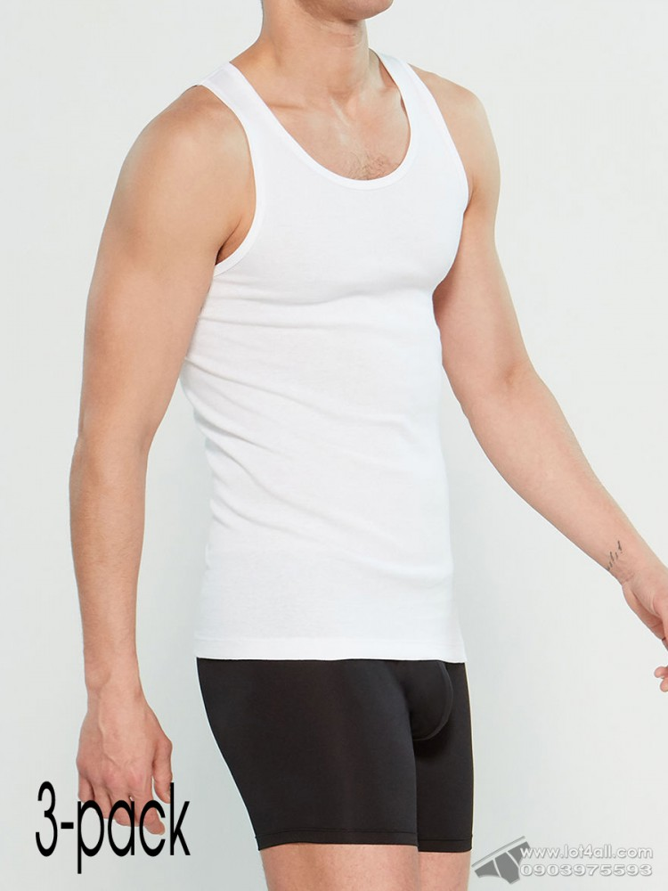 Áo lót nam Calvin Klein NP2207O Scoop Neck Muscle Tank 3-pack White