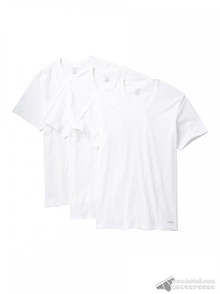 Áo lót nam Calvin Klein NP2209O Slim Fit V-Neck Tee 3-pack White