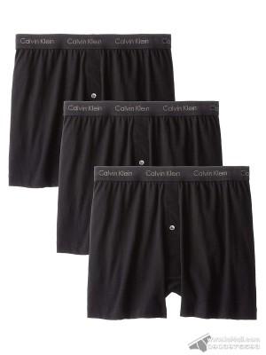 Quần boxer nam Calvin Klein NU3040 Cotton Classic Knit Boxer 3-pack Black