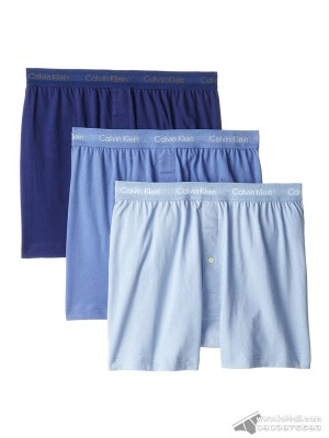Quần boxer nam Calvin Klein NU3040 Cotton Classic Knit Boxer 3-pack Blue Assorted