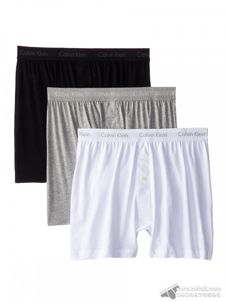 Quần boxer nam Calvin Klein NU3040 Cotton Classic Knit Boxer 3-pack Black/Grey/White
