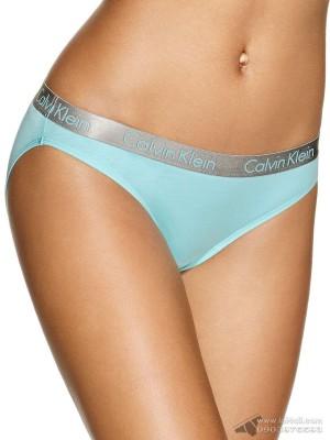 Quần lót nữ Calvin Klein QD3540 Logo Cotton Stretch Bikini Trinity Blue