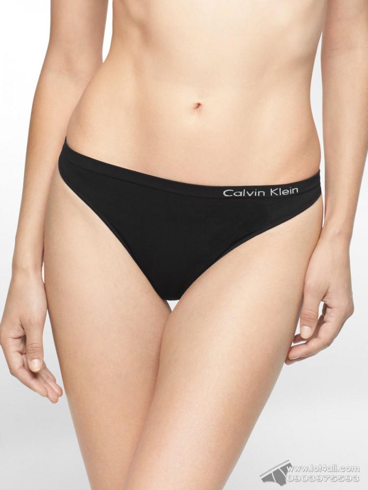 Quần lót nữ Calvin Klein QD3544 Pure Seamless Thong Panty Black