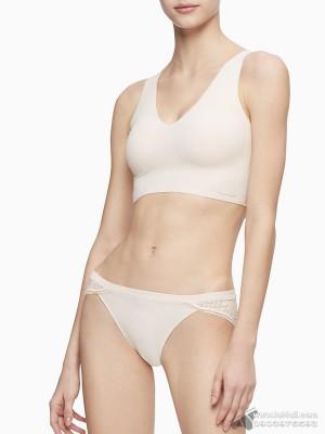 Quần lót nữ Calvin Klein QF5131 Perfectly Fit Geometric Lace Bikini Ivory