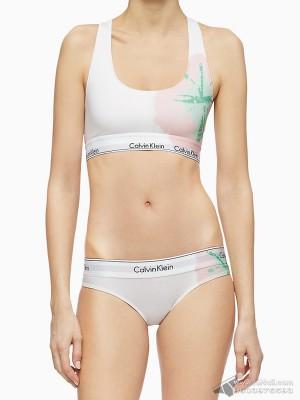 Quần lót nữ Calvin Klein QF5999 Modern Cotton Modal Tie-Dye Tanga White