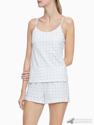 Bộ đồ mặc nhà nữ Calvin Klein QP1391O Logo Cotton Stretch Mini CK-Utopia