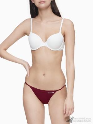 Quần lót nữ Calvin Klein QP1512O Logo Cotton String Bikini Maraschino