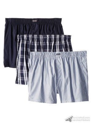 Quần boxer nam Calvin Klein U1732-460 Woven Boxer 3-pack Montague Stripe/Tide/Morgan Plaid