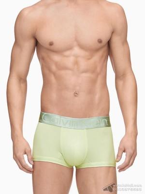 Quần lót nam Calvin Klein U2716O Steel Micro Low Rise Trunk Palm Green