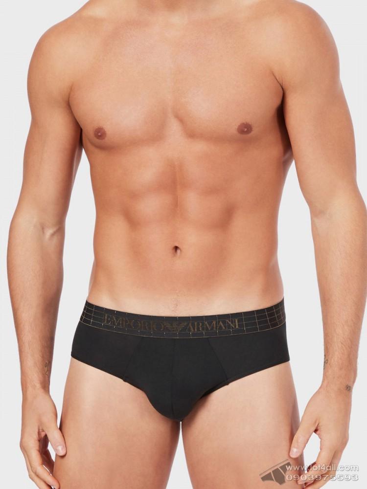 Quần lót nam Emporio Armani Iconic Soft Modal Brief Black