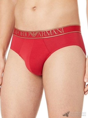 Quần lót nam Emporio Armani Big Eagle Logo Stretch Cotton Brief Ruby