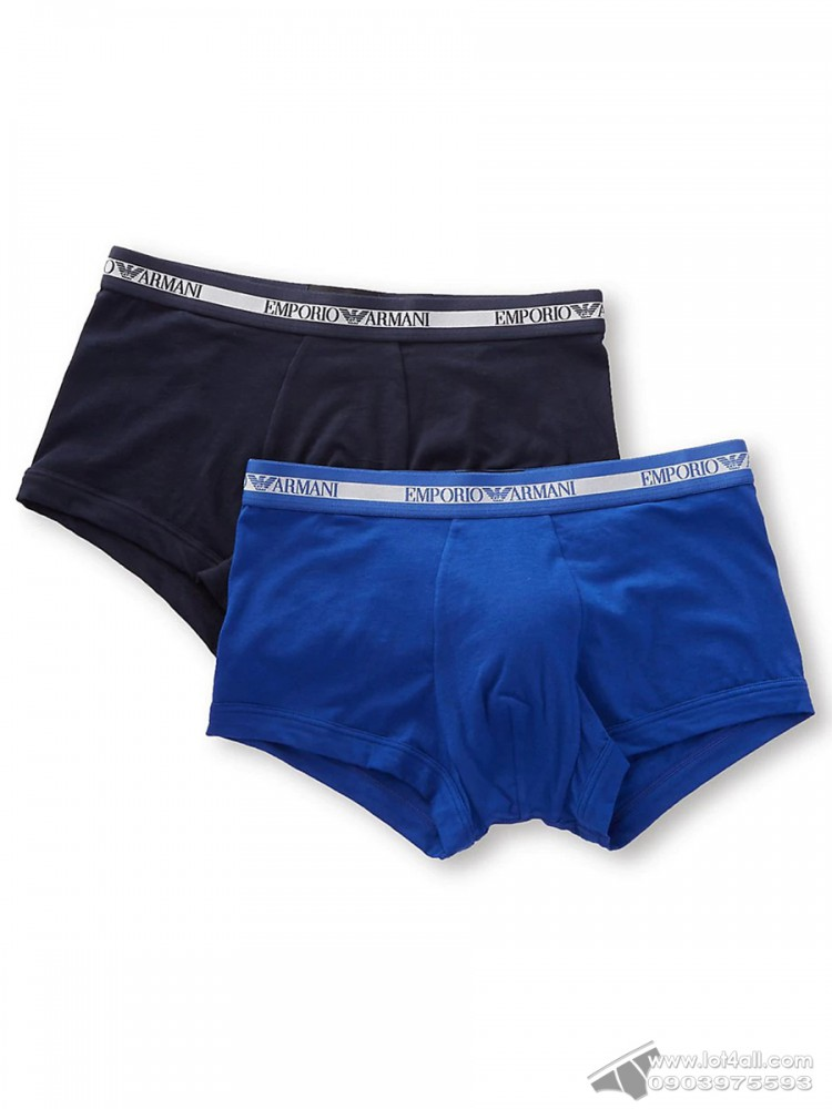 Quần lót nam Emporio Armani Cotton Stretch Fashion Trunk 2-pack Marine/Mazarine