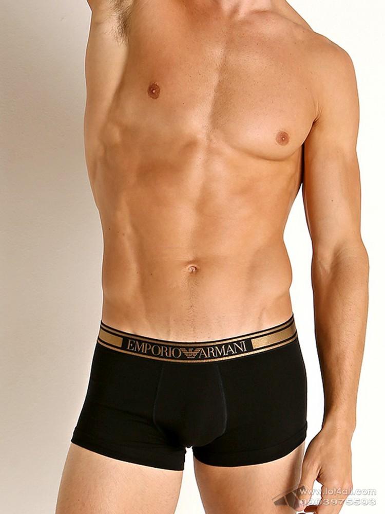 Quần lót nam Emporio Armani Shiny Logoband Trunk Black