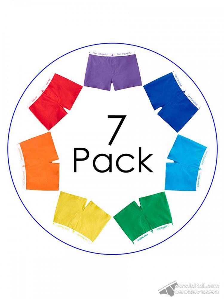 Quần boxer nam Inner Balance Wear 7-pack 7 màu Chakra