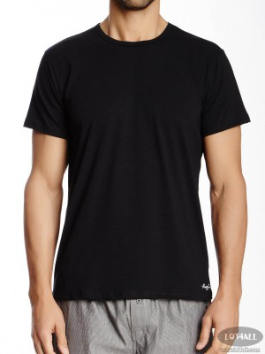 Áo lót nam Kenneth Cole Super Fine Cotton Crew Neck Tee Black 2-pack