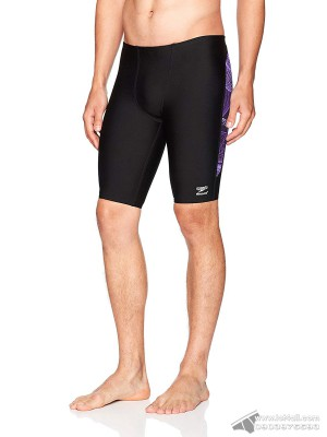Quần bơi nam Speedo Cyclone Strong Endurance+ Jammer Black/Purple