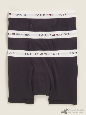 Quần lót nam Tommy Hilfiger Cotton Classic Trunk 3-pack Black