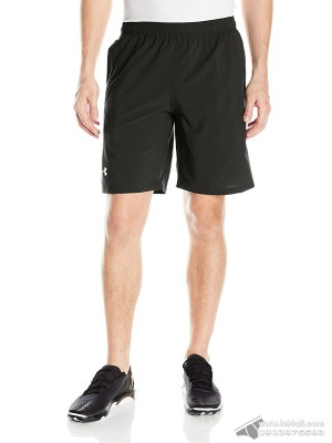 "Quần short nam Under Armour Launch 9"" Black Quirky Lime"
