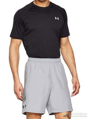 Quần short nam Under Armour Woven Graphic Steel/Black