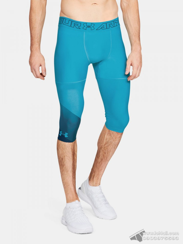 Quần lót nam Under Armour Threadborne Vanish 1/2 Ankle Legging Deceit/Techno Teal