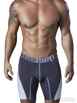Quần lót nam Xtremen 51408 Sport Performance Breathable Boxer Brief Gray-White