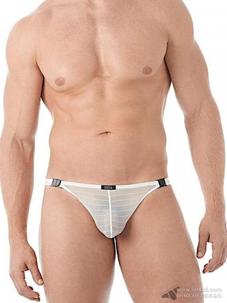 Quần lót nam Gregg Homme 142804 Suspender Mesh C-Ring Thong White