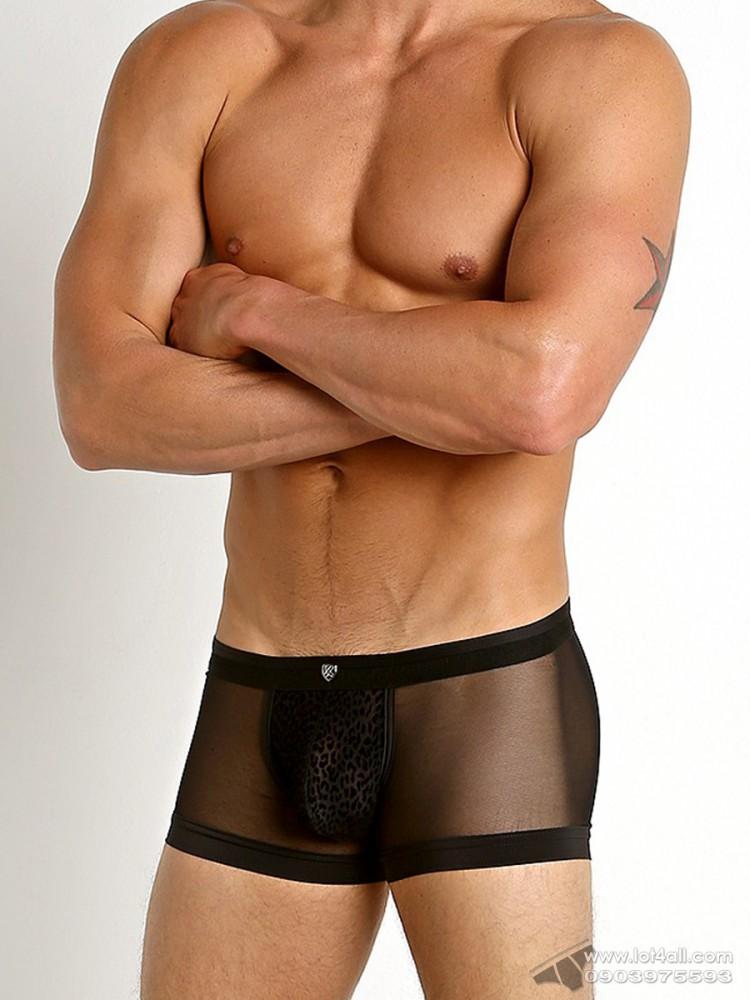 Quần lót nam Gregg Homme 150405 Lust Mesh Velvet Trunk Black