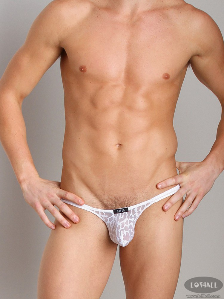 Quần lót nam Gregg Homme Appeal Burnout Animal Print Brief White